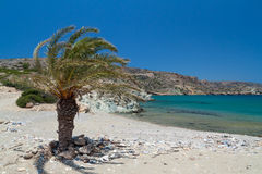 Beach Vai on Crete, Greece Royalty Free Stock Images