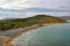 Beach of Vai on the island of Crete Stock Photography