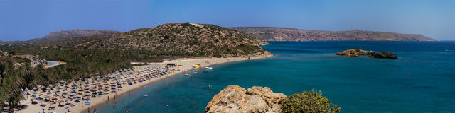 Beach of Vai on the island of Crete. Royalty Free Stock Photography
