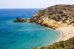 Beach of Vai on the island of Crete. Stock Photography
