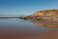Beach of Valdearenas, Liencres Royalty Free Stock Image