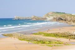 Beach of Valdearenas, Spain Royalty Free Stock Photo