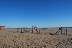 The beach in valencia Stock Photo
