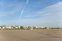 The beach in Valencia. Royalty Free Stock Photography