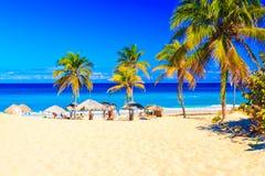 The beach of Varadero in Cuba Stock Photos