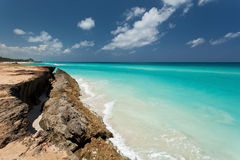 On the beach. The beach in Varadero in Cuba Royalty Free Stock Images