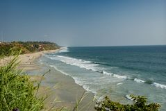 beach in Varkala in India stock photography