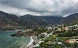 Beach Varkotopos in the village of Bali on the island of Crete Royalty Free Stock Photo