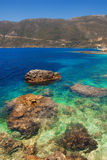 Beach in Vasiliki, Lefkada Royalty Free Stock Photos