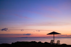 The beach of Vassilikos in Zakynhtos Greece Stock Image