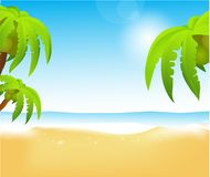 Beach vector Royalty Free Stock Photos