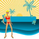 Beach Vector Stock Photo