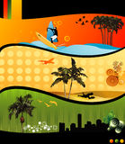 Beach vector composition Stock Image