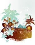 Beach vector illustration Royalty Free Stock Photo