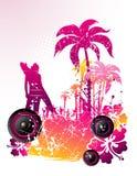 Beach vector illustration Royalty Free Stock Image