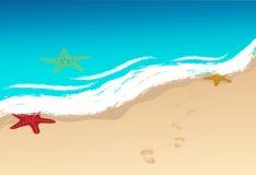 Beach vector image Royalty Free Stock Image