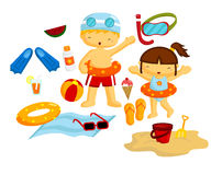 Beach Vector Set Stock Images