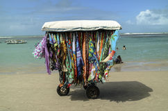 Beach vending cart in northeast Brazil Stock Images