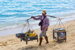 Beach vendor Stock Photos