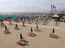 Beach at Viareggio Versilia Italy Royalty Free Stock Photo
