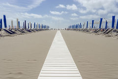 Beach at Viareggio Versilia Italy Stock Images