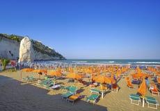 Beach of vieste - gargano area - apulia region - italy Stock Photo