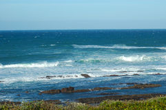 Beach View. South African landscape at the sea: Beach View Indian Ocean South Africa, Nelson Mandela Bay, Port Elizabeth Stock Photography