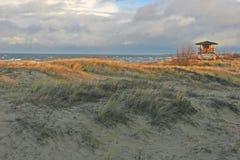Beach view. At the autumn (Bulli, Riga, Latvia Royalty Free Stock Images