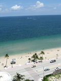 Beach view. Taken from a high rise looking down on A1A and the beach Stock Photography