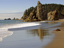 Beach view. A view seen from Rialto Beach, Olympic National Park, Washington, USA Stock Image