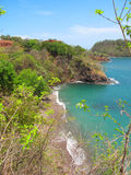Beach View from above. View of a wild beach from the hills above in Guanacaste Costa Rica Stock Images