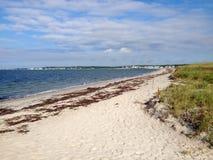 Beach. View of Atlantic ocean embankment near Hyannis town, Massachusetts, USA Royalty Free Stock Images