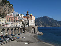 Beach view from Atrani Royalty Free Stock Image