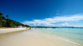 Beach view in Boracay Stock Images