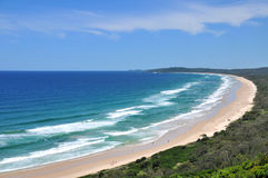 Beach view at Byron Bay Royalty Free Stock Photo