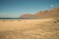 Beach view at Caleta de Famara Stock Photo