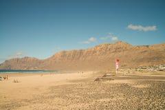 Beach view at Caleta de Famara Royalty Free Stock Photography