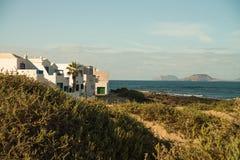 Beach view at Caleta de Famara Stock Image