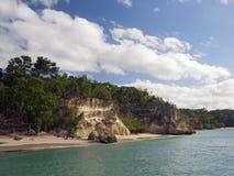 Beach view from catamaran Royalty Free Stock Photos