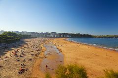 Beach view in the city of santander Stock Photography