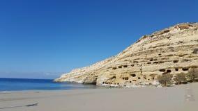 Beach. View of a beach in Crete Stock Photo