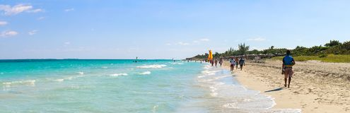 Beach view, Cuba, Varadero Stock Images