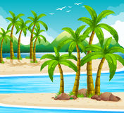 Beach view at daytime Royalty Free Stock Photography