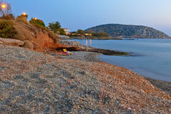 Beach view at evening in Greece. Stock Photography