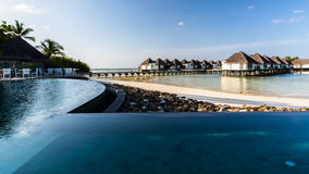 Beach view at Four Seasons Resort Maldives at Kuda Huraa Stock Images