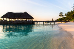 Beach view at Four Seasons Resort Maldives at Kuda Huraa Stock Photo