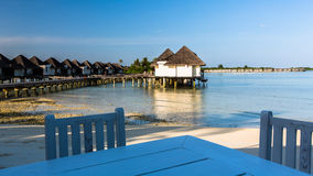 Beach view at Four Seasons Resort Maldives at Kuda Huraa Stock Photography