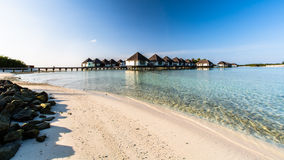 Beach view at Four Seasons Resort Maldives at Kuda Huraa Stock Image