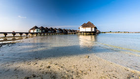 Beach view at Four Seasons Resort Maldives at Kuda Huraa Stock Photos