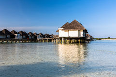 Beach view at Four Seasons Resort Maldives at Kuda Huraa Royalty Free Stock Image